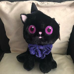 NWT Halloween cat witch black and purple